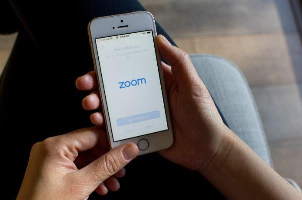 a phone displaying the Zoom app